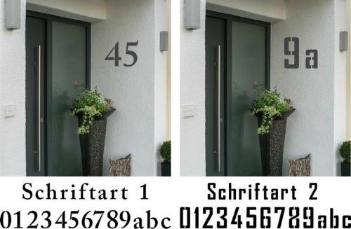 Hausnummerschablonen
