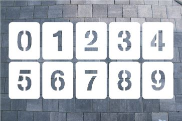 Zahlenschablone aus Kunststoff
