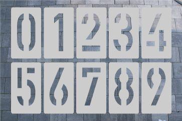 Zahlenschablone aus Aluminium