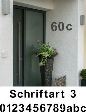 Hausnummerschablonen zum Ausmalen - Schriftart 3
