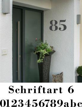 Hausnummerschablonen zum Ausmalen - Schriftart 6
