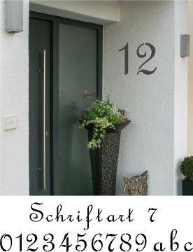 Hausnummerschablonen zum Ausmalen - Schriftart 7