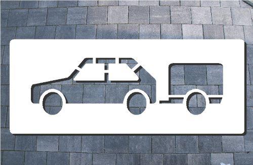 Anhängerparkplatz Schablone