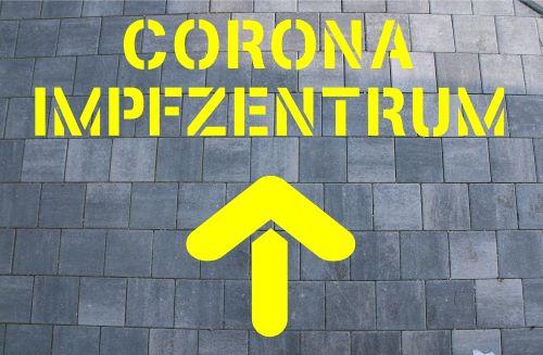 Corona Impfzentrum Schablone