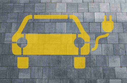 E-Auto Ladestation Schablone