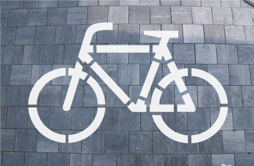 Bodologoschablone zum Sprühen Fahrrad