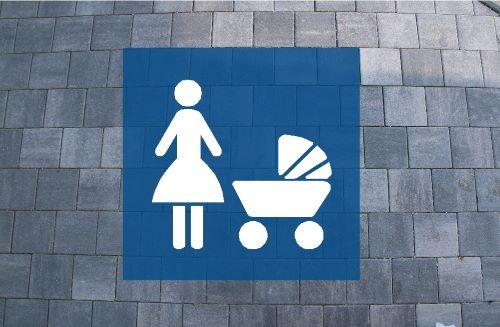 Bodologoschablone Mutter Kind