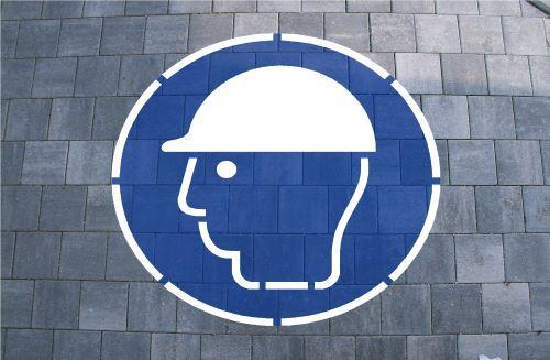 Schutzhelm Bodenmarkierung zum Malen oder Sprühen
