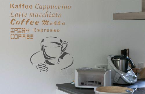Kaffee Dekorschablone