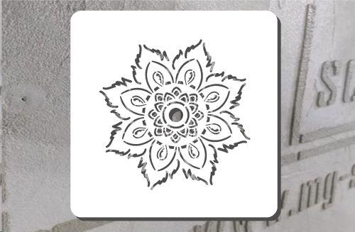 Wasserblume Schablone