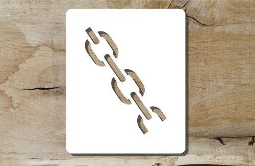 Kettensymbol Schablone