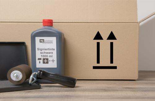 Hier oben - Verpackungssymbol