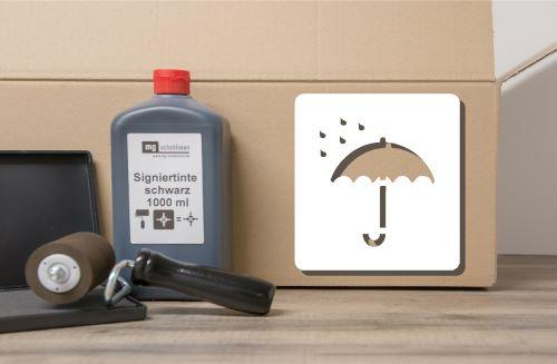 Vor Nässe schützen - Verpackungspiktogramm