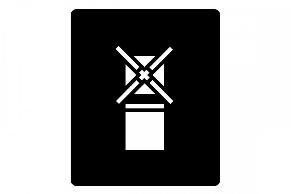 Hinweisschild Schablone Temperatur