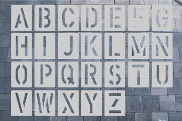 ALU Buchstabenschablone zum Sprühen