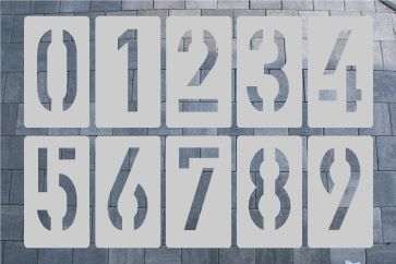 Zahlenschablone Aluminium